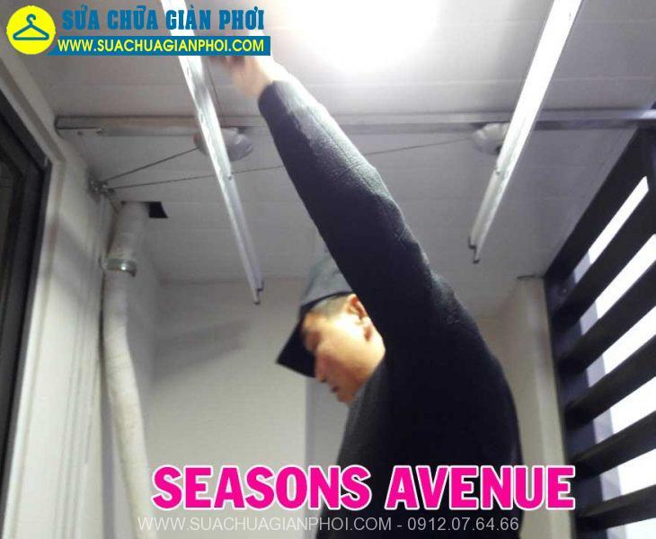 Sửa chữa giàn phơi chung cư Seasons Avenue