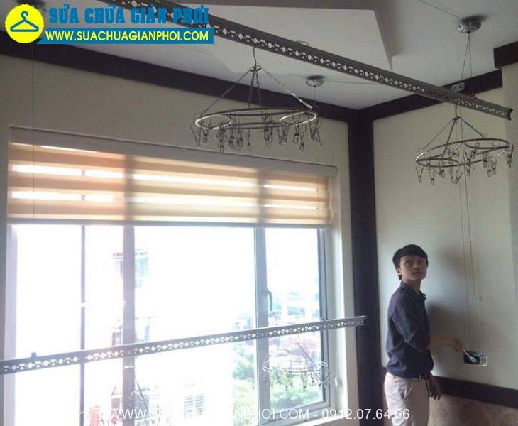 Hình ảnh sửa chữa giàn phơi thông minh tại quận Hoàng Mai