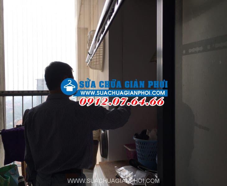 Sửa giàn phơi tại chung cư An Lạc, 46 Lưu Hữu Phước, Mỹ Đình, Hà Nội