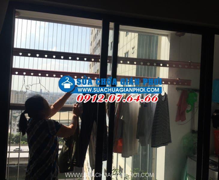 Sửa giàn phơi quần áo thông minh cho nhà Chị Thủy, phòng 1003, tòa tháp C, Kim Văn - Kim Lũ Hoàng Mai